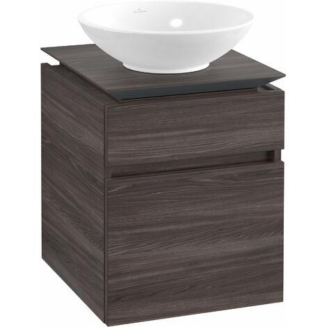 Villeroy & Boch Legato Vanity unit B120, 450x550x500mm, washbasin centric, colour: Oak Graphite - B12000FQ