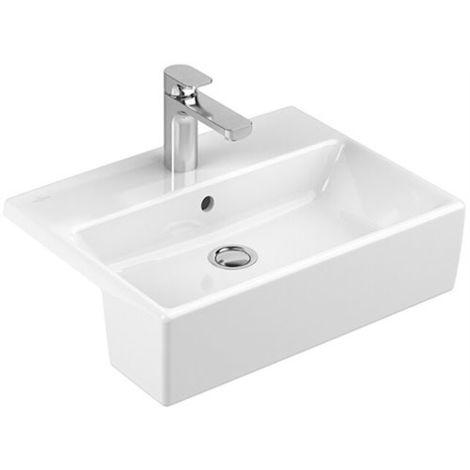Villeroy & Boch MEMENTO Vorbauwaschtisch 550 x 425 mm, für 3-Loch Armatur  geeignet Weiß