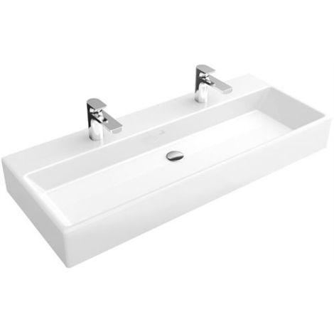 Villeroy & Boch MEMENTO Waschtisch 100x47cm mit Überlauf für 1-Loch  Armatur, weiß