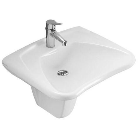 Villeroy & Boch OMNIA Classic Halbsäule für Waschtisch pergamon ...