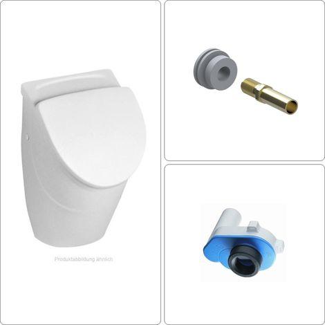 Villeroy & Boch O.Novo Urinal, Ablauf und Zulauf