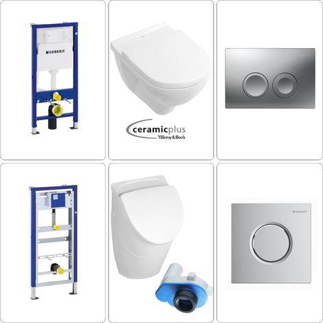 Villeroy & Boch O.Novo Urinalbecken & Wand-WC mit Deckel CPlus + Zubehör Geberit