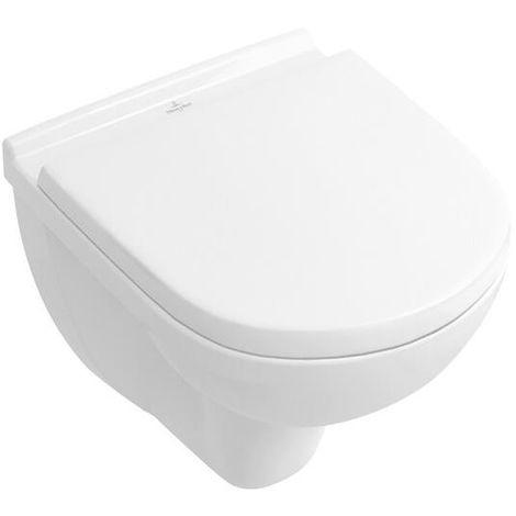 Villeroy & Boch O.Novo Wandtiefspül WC Compact 49cm weiß CeramicPlus 568810R1