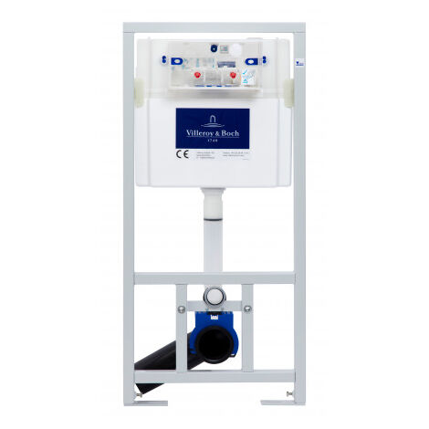 Villeroy & Boch Pack WC Bâti-support + WC SAT sans bride et fixations invisibles + Plaque chrome + Set habillage (ViConnectInfinitio-1-sabo)
