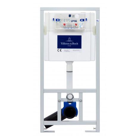 Villeroy & Boch Pack WC Bâti-support + WC Swiss Aqua Technologies sans bride et fixations invisibles + Plaque chrome (ViConnectInfinitio-1)