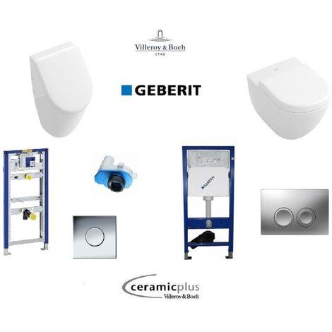 Villeroy & Boch Subway Urinal mit Wand-WC, CeramicPlus Geberit