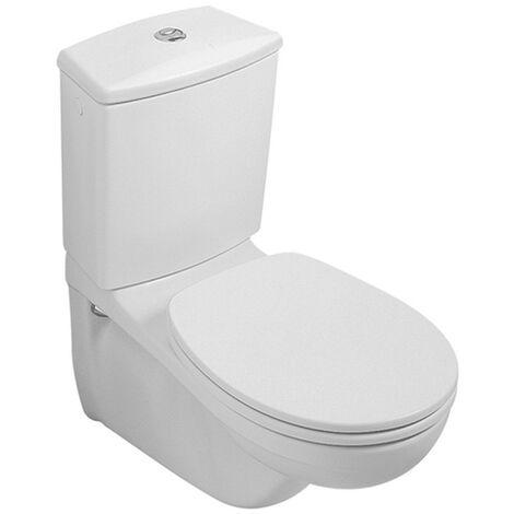 Villeroy & Boch Tiefspül-WC Kombi (ohne Deckel), ohne Spülkasten ohne Novo/Omnia Classic Abg. Waagr. 355x680mm weiß alpin, 66231001