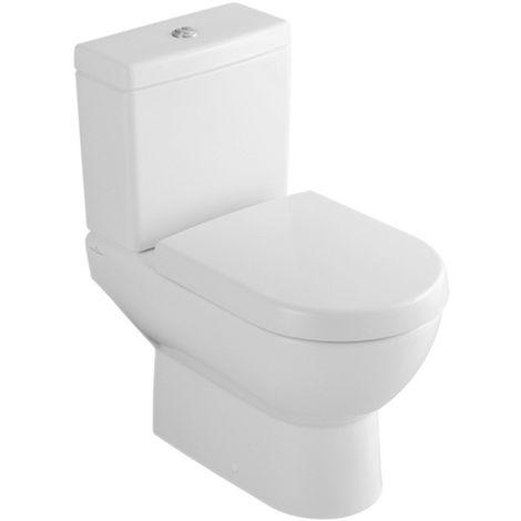 Villeroy & Boch Tiefspülklosett für Kombination (ohne Spülkasten, ohne Sitz), Subway 660910 370x670mm Weiß Alpin, 66091001