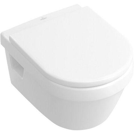 Villeroy & Boch Tiefspülklosett mit Deckel und softclose Wasserrandlos DirectFlush Omnia architectura weiß mit CeramikPlusbeschichtung, 5684HRR1
