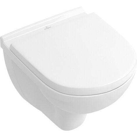 Villeroy & Boch Tiefspülklosett spülrandlos compact ohne Novo 360 x 490 mm Weiß mit CeramicPlus, 5688R0R1