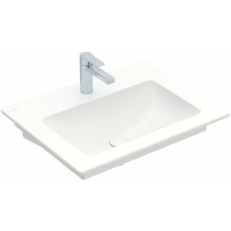 Villeroy & Boch Venticello Lave-mains 412466, 650x500mm, 1 trou pour robinet, sans trop plein, Coloris: Blanc - 41246601