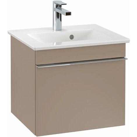 Villeroy & Boch Venticello Módulo de lavabo A931, 466x420x426mm, color: Gris brillante, mango: cromado brillante - A93101FP