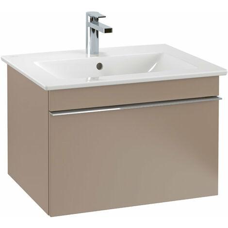 Villeroy & Boch Venticello Módulo de lavabo A933, 603x420x502mm, color: Gris brillante, mango: cromado brillante - A93301FP