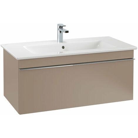 Villeroy & Boch Venticello Módulo de lavabo A935, 953x420mm, color: Cristal, blanco brillante, mango: cromado brillante - A93501RE