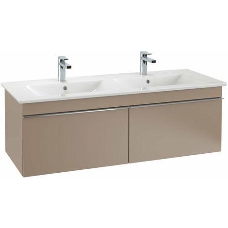 Villeroy & Boch Venticello Módulo de lavabo A939, 1253x420mm, color: Gris brillante, mango: cromado brillante - A93901FP