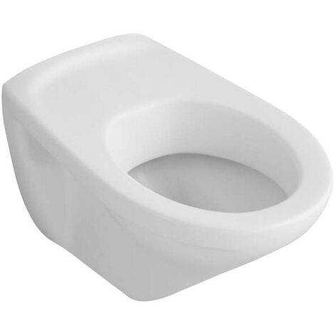 Villeroy & Boch Wand WC (ohne Deckel) Tiefspüler Omnia Pro mit keramik Sitz 36x55cm weiß alpIn mit Cer, 767710R1
