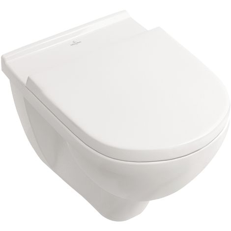 Villeroy & Boch Wand-WC O.Novo mit WC-Sitz | Spülrandlos | Directflush | 5660HR01