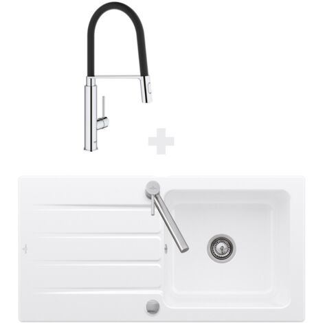 """main image of """"Villeroy et Boch - Evier Architectura 60, 100 x 51 cm Blanc + Robinet cuisine Grohe Concetto"""""""