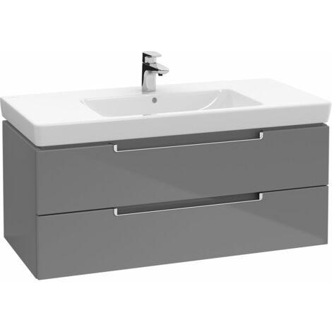 Villeroy et Boch Meuble-lavabo XL Subway 2.0 A697, Coloris: Blanc mat, manche : argent mat - A69700MS