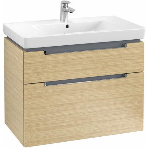 Villeroy et Boch Meuble-lavabo XXL Subway 2.0 A914, Coloris: Chêne nordique, manche chromé brillant - A91410VJ