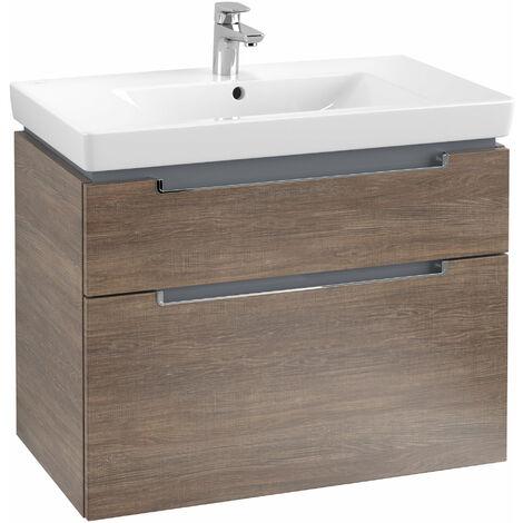 Villeroy et Boch Meuble-lavabo XXL Subway 2.0 A914, Coloris: Chêne Santana, manche : chrome brillant - A91410E1