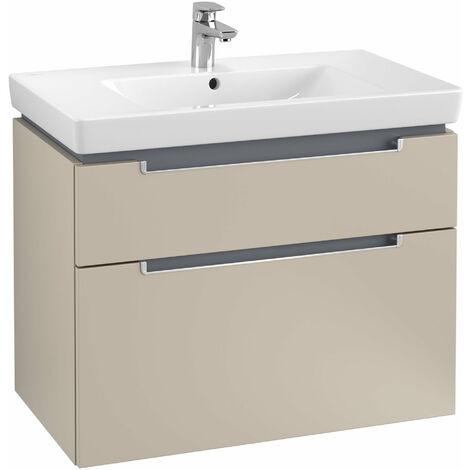 Villeroy et Boch Meuble-lavabo XXL Subway 2.0 A914, Coloris: Gris doux, manche argenté mat - A91400VK