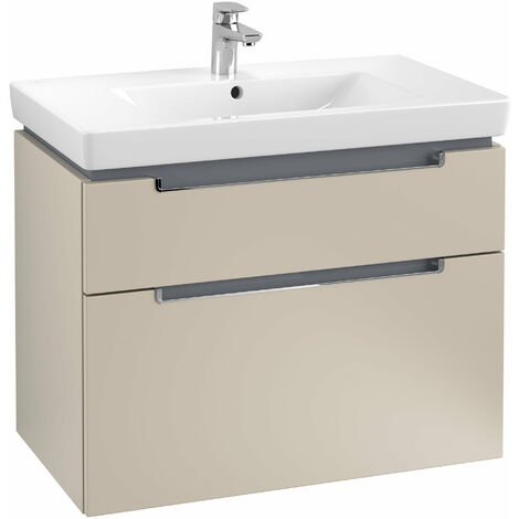 Villeroy et Boch Meuble-lavabo XXL Subway 2.0 A914, Coloris: Gris doux, poignée chromée brillante - A91410VK