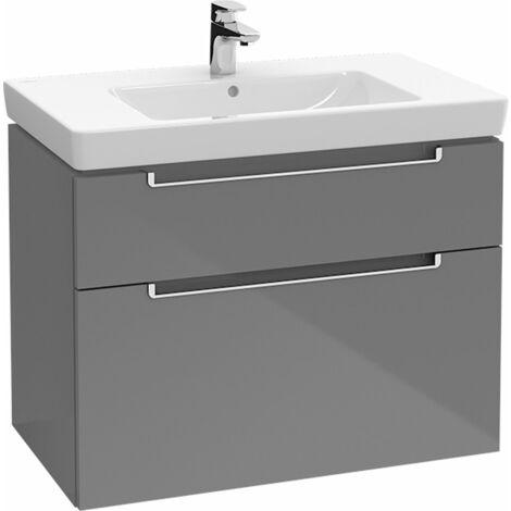Villeroy et Boch Meuble-lavabo XXL Subway 2.0 A914, Coloris: Gris truffe, manche argent mat - A91400VG
