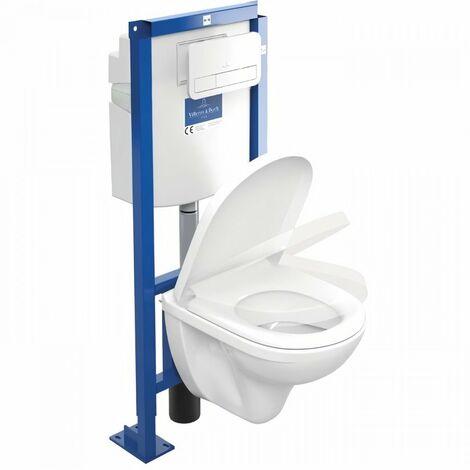 Villeroy et Boch Pack WC suspendu Combipack O.novo Compact Directflush