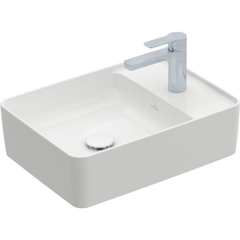 villeroy et boch vasque avec plage de robinetterie ovale. Black Bedroom Furniture Sets. Home Design Ideas