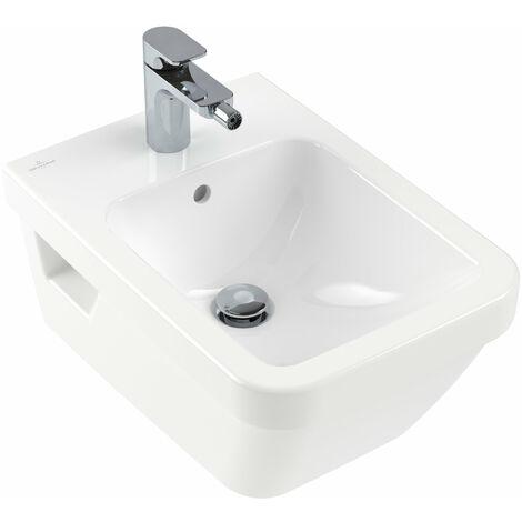 Villeroy und Boch Bidet Architectura 448500 370x530mm para montaje en pared, para grifería de 1 agujero, 1 agujero para grifo, blanco, color: Cerámica Blanca - 448500R1