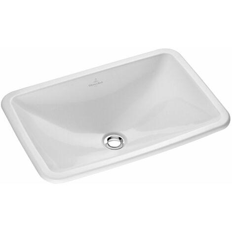 Villeroy und Boch, lavabo à encastrer à encastrer Loop & Friends 614520 675x450mm, blanc, Coloris: Céramique blanche plus - 614520R1