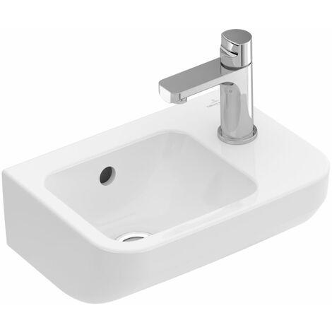 Villeroy und Boch Lave-mains Architectura 437336 360x260mm, carré, trou pour robinet à droite, blanc, Coloris: Céramique blanche plus - 437336R1