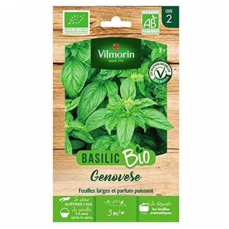 "main image of ""Vilmorin - Basilic Genovese Bio"""