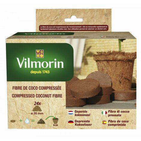 Vilmorin - Fibre De Coco Compressee - 24 Pastilles