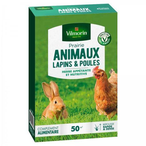 Vilmorin - Gazon Prairie Lapins et Poules 500 gr