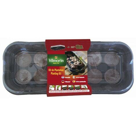 Vilmorin - Kit Mini-Serre Souple + 10 Pastilles De Fibre De Coco Tout