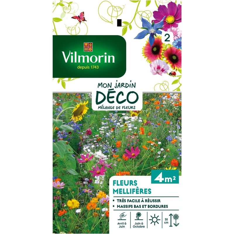 Sachet graines Fleurs Mellifères en Mélange Vilmorin