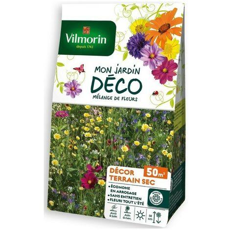 Vilmorin - Sachet graines Mélange de fleurs Décor Terrain sec 50m2