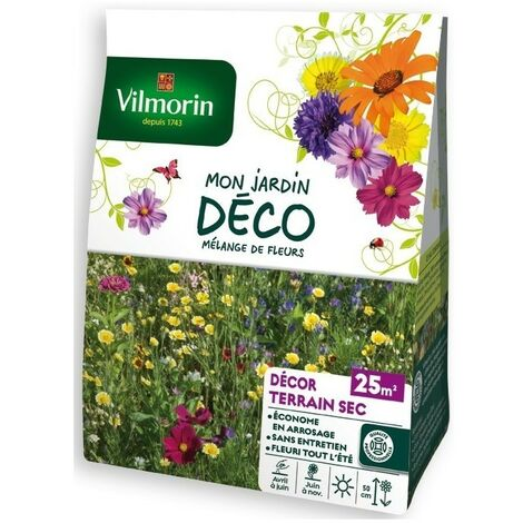Vilmorin - Sachet Graines Mélange de Fleurs Terrain sec 25m2