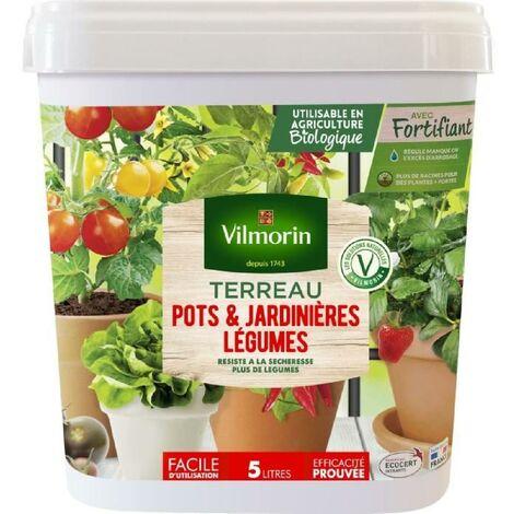 VILMORIN Seau Terreau spécial pots et jardinieres légumes 5 L