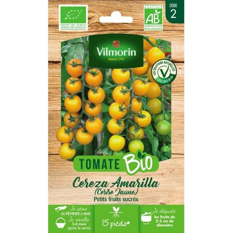 Vilmorin - Tomate Cereza Amarilla Bio