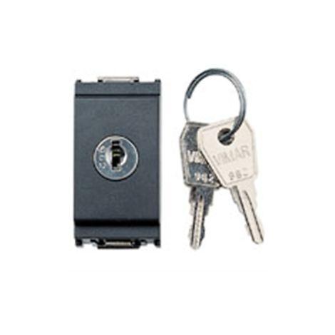 Vimar 16160 Interruptor de llave 1P 16AX 250V - 2 llaves - gris