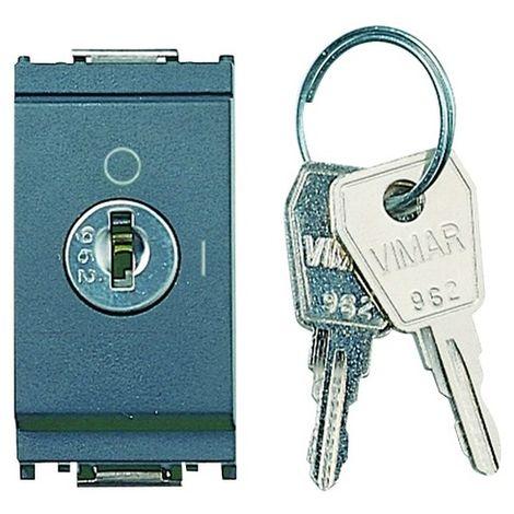 Vimar 16165 Llave de contacto 2P 16AX 250V - 2 llaves - gris