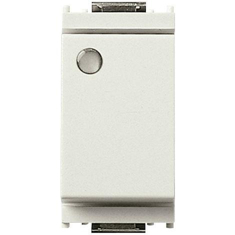 Vimar - Deviatore 1P 16AX 250V luminoso Serie Idea colore bianco 16025.B