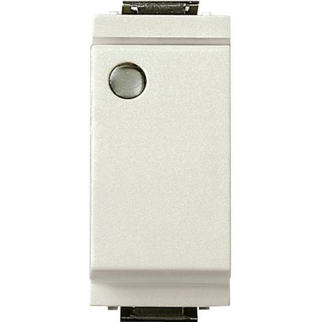 Vimar - Interruttore 1P 16AX luminoso Serie Idea colore bianco 17001.L.B