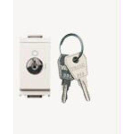 Vimar - Interruttore 2P 16AX + chiave unif. Serie Idea colore bianco 16165.CU.B