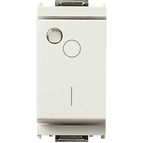 Vimar - Interruttore 2P 16AX luminoso Serie Idea colore bianco 16036.B