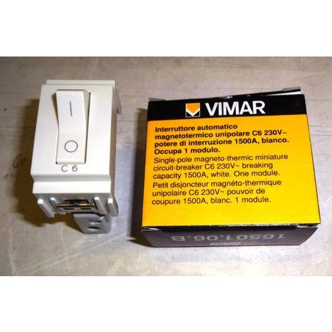 Vimar - Interruttore magnetotermico 1P 230V C6 Serie Idea colore bianco 16501.06.B