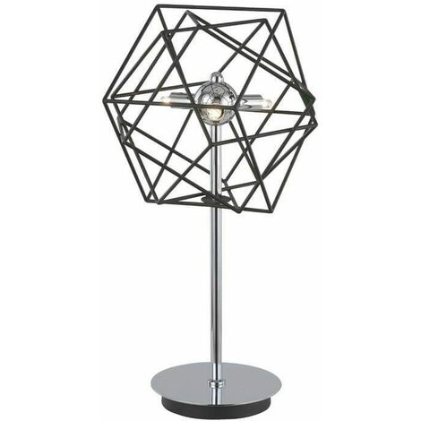 Vinci chrome table lamp 3 bulbs